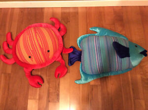 Pier 1 Crab and fish plush toys (NEW!)