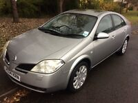 2004 Nissan Primera 2.0 SVE-1 owner-August 207 mot-Service history-sat nav-6speed box