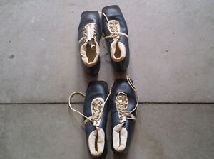 Cross-country shoes size 9.5 plus skis and ski poles for sale.