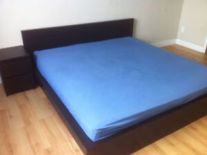 KING SIZE BED WITH NIGHT TABLE, CHESTER.ALL EXCELLENT CONDITION