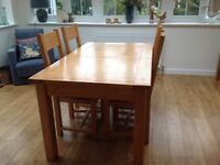 Modern Oak Dining Table/ 6 Chairs