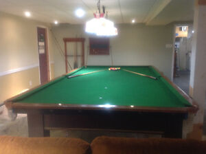 6' by 12' pool table