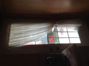 Ensemble de rideaux pour porte et fenêtre de cuisine
