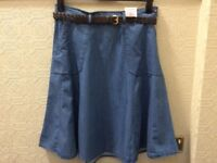 NEW MARKS AND SPENCER DENIM SKIRT WITH TAG