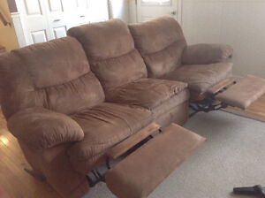Reclining sofa and love seat set