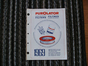 1969 purolator  filter cataloque