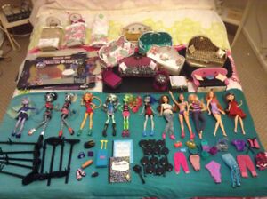 Doll Lot, Monster High, Barbie, Furniture, Accessories