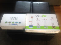 Wii Console and Wii Fit Balance Board