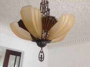Looking for this slip shade (yellow) art deco lamp wall sconce