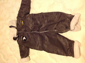 Flight suit snowsuit - size 24 mos