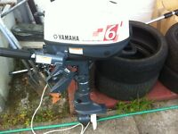 Yamaha 6hp 4 stroke outboard as new