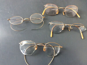 4 Gold filled antique eyeglass frames $20