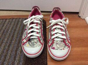 Coach Barrett Poppy White Pink Runners Sneaker Size 9.5