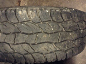 4-265/70r17 Cooper Discoverer At3 on rims