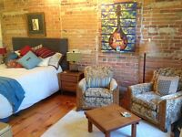 Furnished Almonte Artist Loft in Historic Woollen Mill