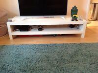 Ikea White TV Bench