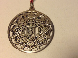 Antique Old Vintage Chinese Medal Pendant