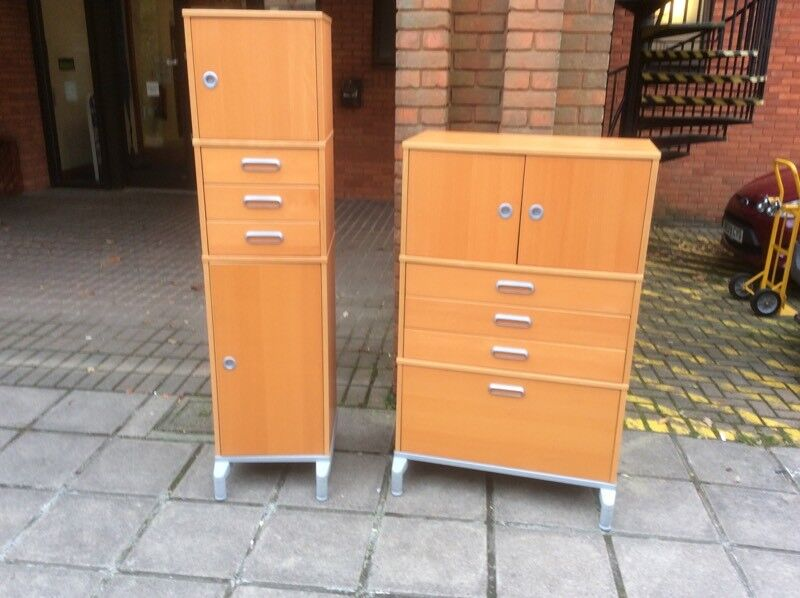 2 Office Storage Cupboards.