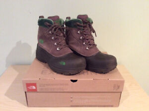 THE NORTH FACE BOYS CHILKATS LACE WINTER SNOW BOOTS SIZE 6 youth