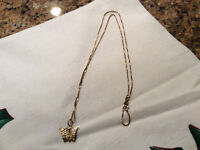 10K Yellow Gold Chain & Butterfly Pendant