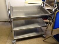 Stainless mobile catering trolly