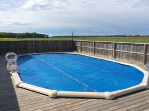 Used 18 x 32 above ground pool