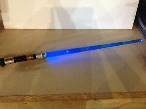 2004 Hasbro Electronic Star Wars OBI-WAN KENOBI Lightsaber