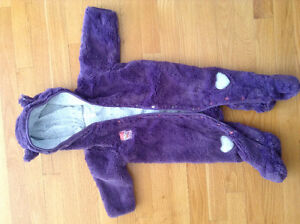 Ensemble printemps en peluche mauve