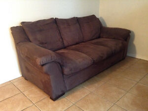 Brown Microfibre Couch ******* delivery available