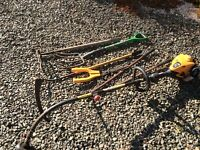 Old unwanted garden tools