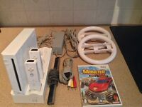 Nintendo Wii - Fully Working, with all cables, 2 controllers, 1 game