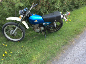 moto antique  Honda XL 250  1975   original..