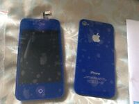 iPhone 4 lcd screen rare blue