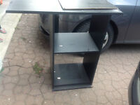 black cabinet for music system