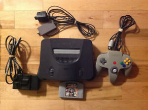 Nintendo N64 Game System with Hookups, Controller & Game