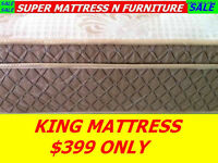 BRAND NEW KING SIZE MATTRESS THICK EURO TOP ONLY $399 FEW LEFT,