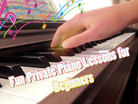 Private Piano Lessons For Beginners (level 1-3)
