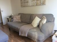 Ikea 3 seater sofa, armchair and large footstool only 4'months old