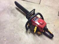 Petrol Chainsaw, working