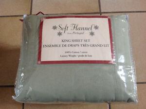 FLANNEL KING SIZED SHEET SET-STILL IN PKG!