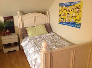 Girls twin bed with trundle.