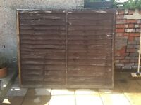 5 x Fence Panels (1.83m x 1.5m) £25 for all