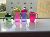 A small bundle of first drinking bottles