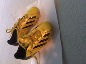 Yellow Adidas Soccer Shoes Size Kids 11
