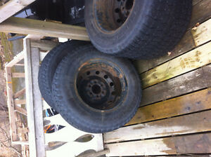 FORD f150 WINTER TIRES AND RIMS BARELY USED St. John's Newfoundland image 2