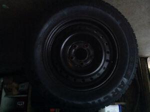 Michelin Alpin 205/65R/15 with rims Cambridge Kitchener Area image 3