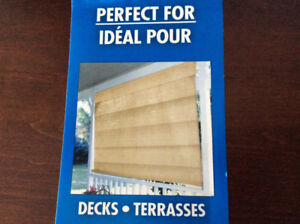 Exterior Roman Shades / Blinds (2) - for deck , patio or sunroom