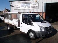 2008 58 FORD TRANSIT TIPPER 350 DRW RWD 115BHP STEEL CAGE TIPPER BODY 6 SPEED D