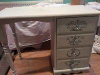Annie Sloan white shabby chic desk/dressing table