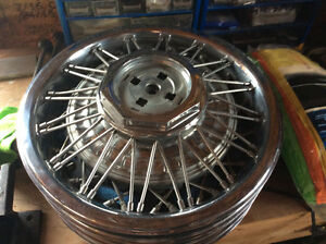 All metal chrome spoked discs 14 inch.